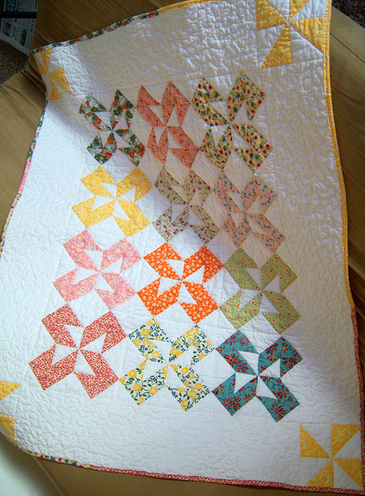 Dutch Pinwheels Quilt by Crochet Cami, The Pattern Designed by Heather and Megan of Quilt Story