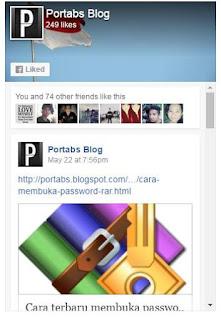Cara menambahkan halaman FB di Blog