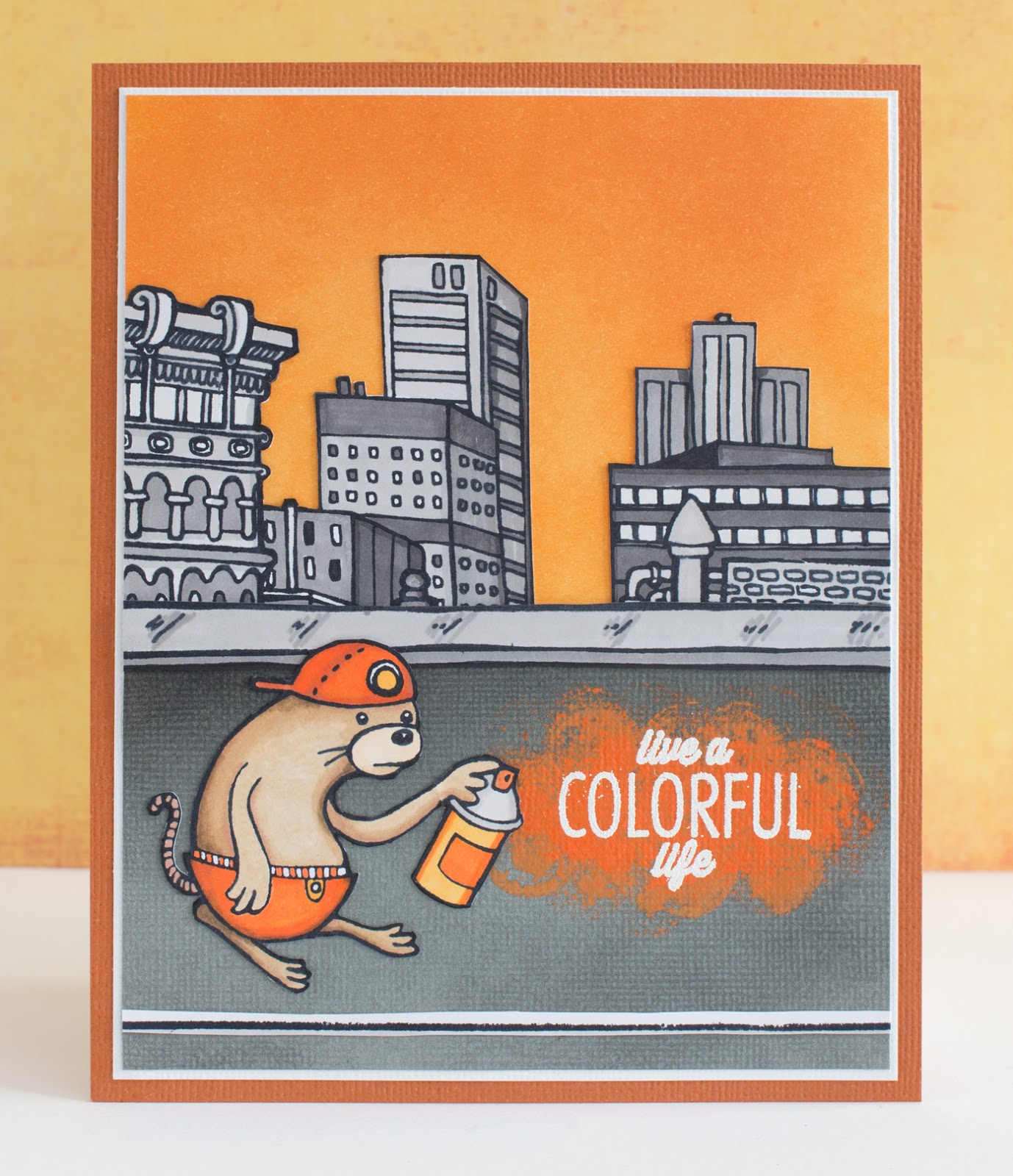Cardmaking: Color therapy: Orange!