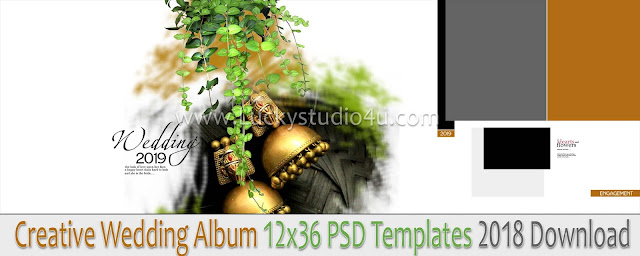 Wedding Album 12x36 PSD Templates