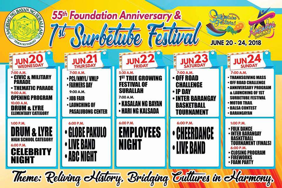 Surallah to celebrate founding anniversary, 1st Surbetube Festival this June 20-24