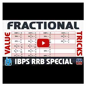 Fractional Value Tricks | Maths | IBPS RRB Special 2017