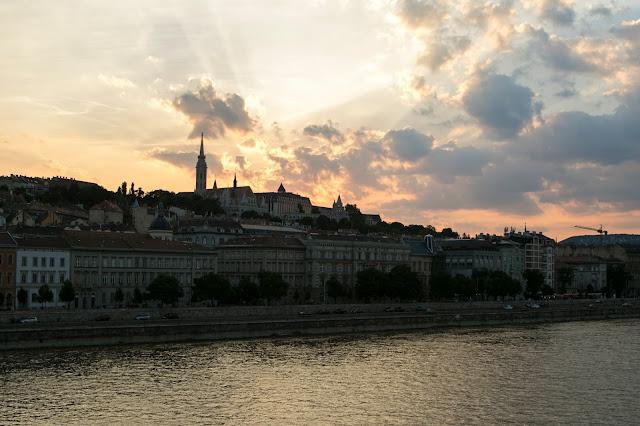 Tramonto dal ponte delle catene-Budapest