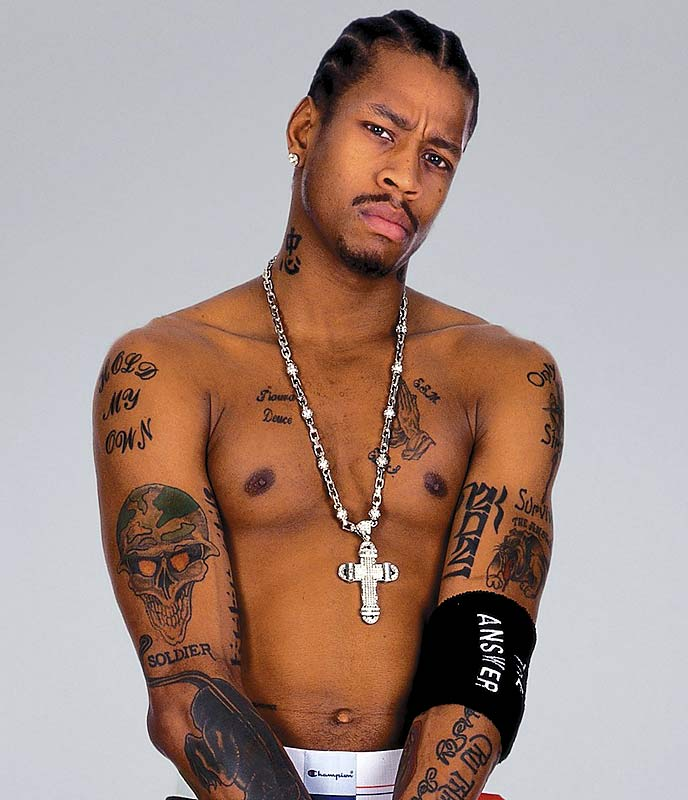 Tattoo Styles For Men and Women: Allen Iverson Tattoos