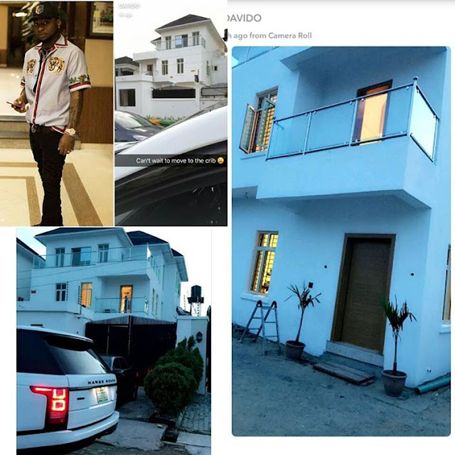 Davido shows off his newly completed mansion