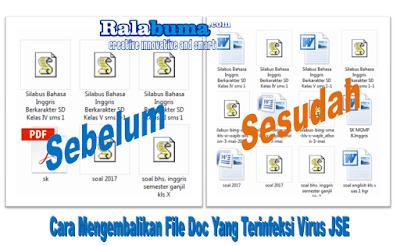 Cara Mengatasi Virus JSE Yang Merubah File Doc