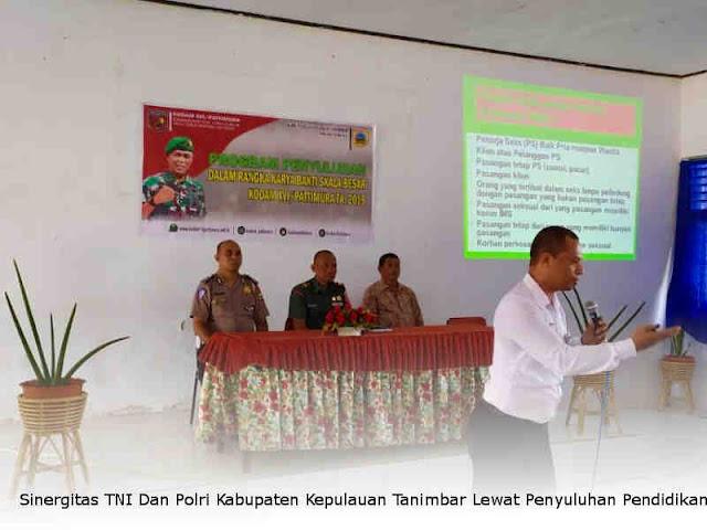 Sinergitas TNI Dan Polri Kabupaten Kepulauan Tanimbar Lewat Penyuluhan Pendidikan