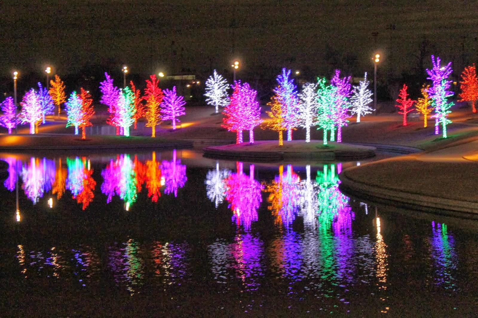 Nafisa S World Throwback Christmas Lights In Vitruvian Park