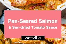 Pan Seared Salmon with Sun-Dried Tomato Cream Sauce