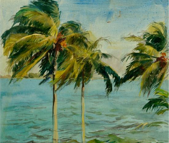 Palm Trees on Wood Art