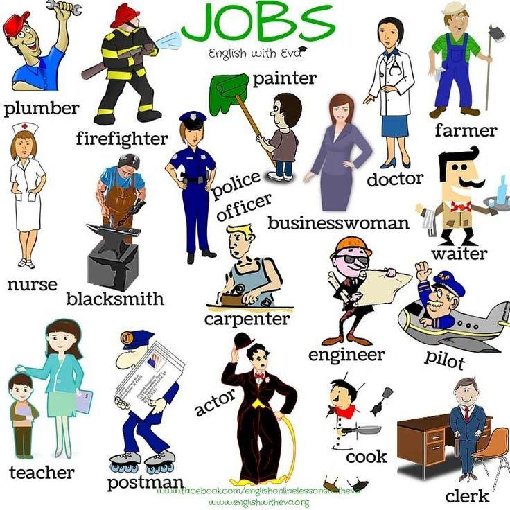 AULA DE INGLÉS MIRASIERRA: 4ºPrimaria: JOBS & PROFESSIONS