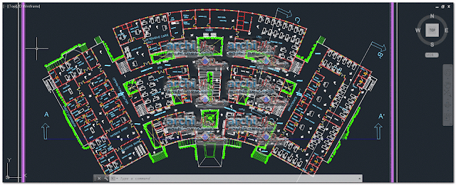 - Horizontal projections of the project 7th level hospital dwg
