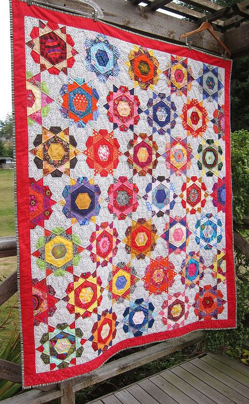 Rose Star Quilt Free Tutorial