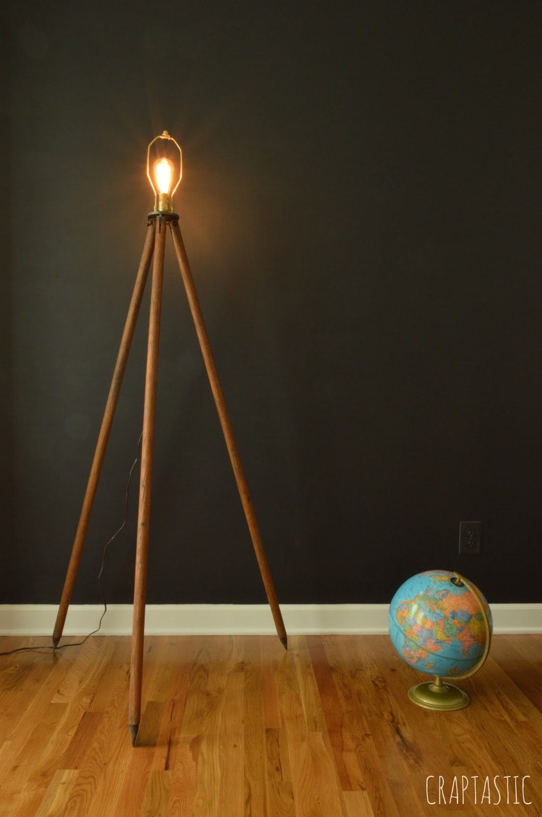 Craptastic Diy Tripod Lamp And Dining Room Update