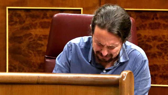 Iglesias llora en el Congreso