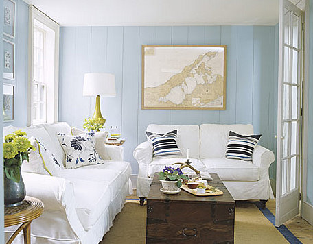 small nautical cottage living room idea
