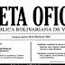 En la Gaceta oficial N° 41.231 decretan Ajuste salarial  y incremento de Cestaticket