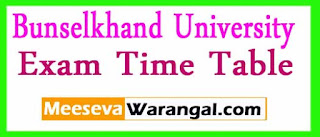Bunselkhand University B.A/ B.Com/ M.Com. 1st/ 2nd/ 3rd Year 2017 Exam Time Table