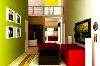 warna cat ruang tamu 2 warna menarik dan bagus