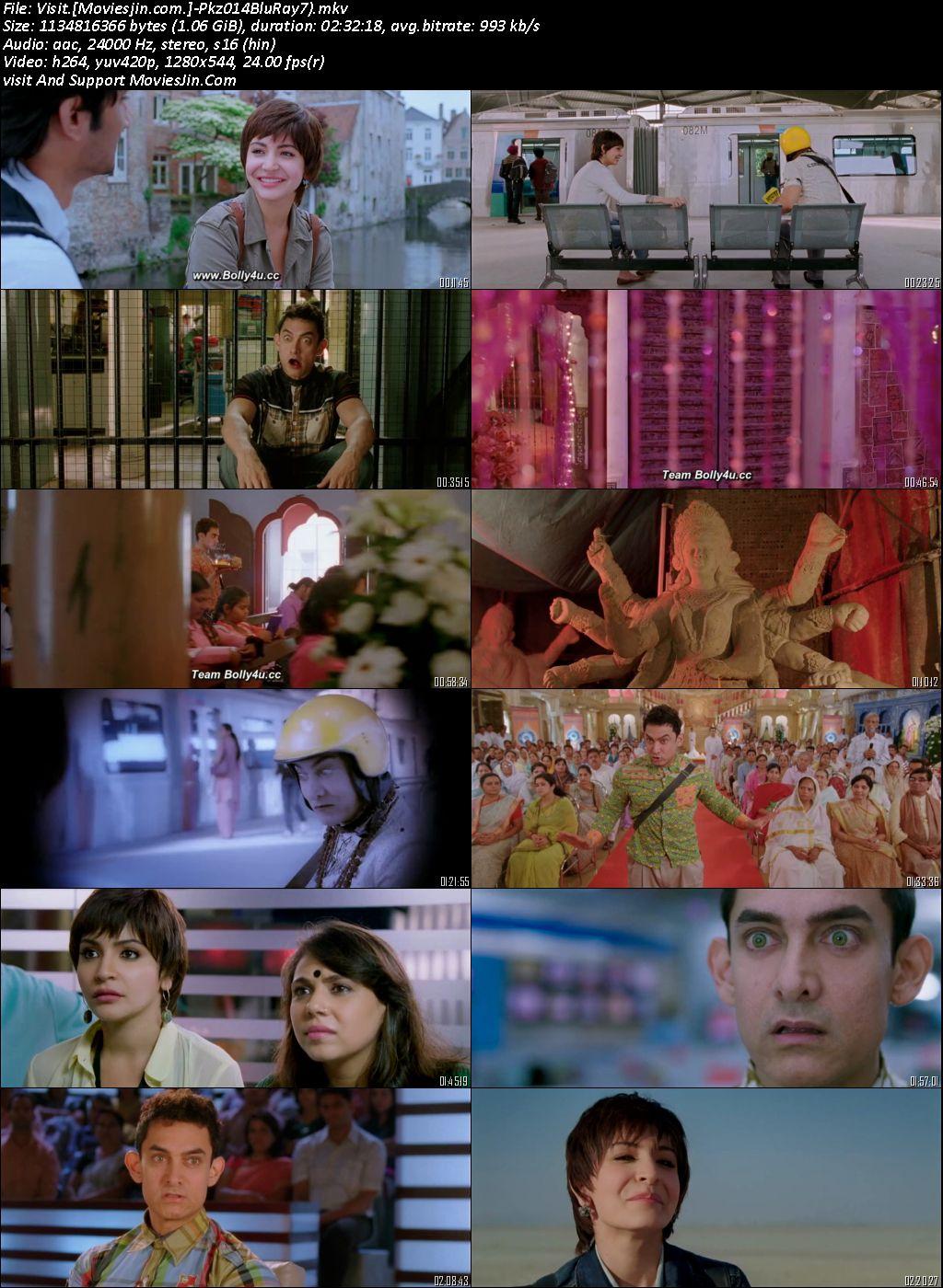 Pk 2014 BluRay Full Hindi Movie Download 720p HD 999Mb
