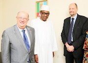 Buhari meets with EU election monitoring team.