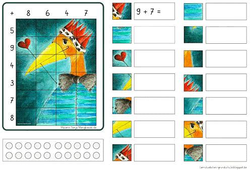 Grundschule - Suchen und Rechnen Zahlenraum 20