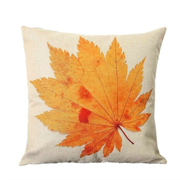 Fall Leaf Pillow featured on Walking on Sunshine