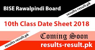 Gujranwala Board Date Sheet: 2018