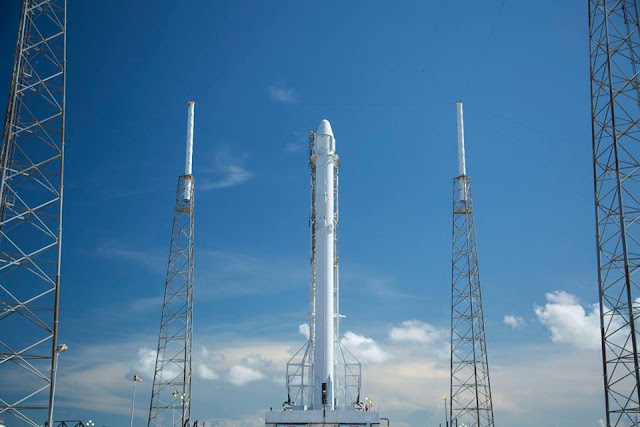 SpaceX Falcon 9 rocket at Cape Canaveral Air Force Station in Florida