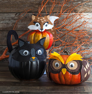 20 Idee Per Decorare Le Zucche Di Halloween Fai-da-te: animaletti