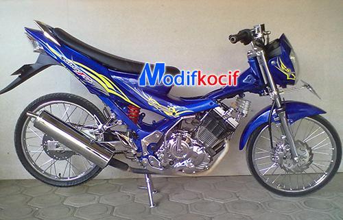 Modifikasi Motor Suzuki Satria Fu