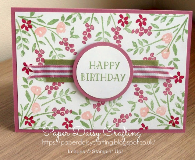 Number of Years floral birthday card by Stampin' Up!