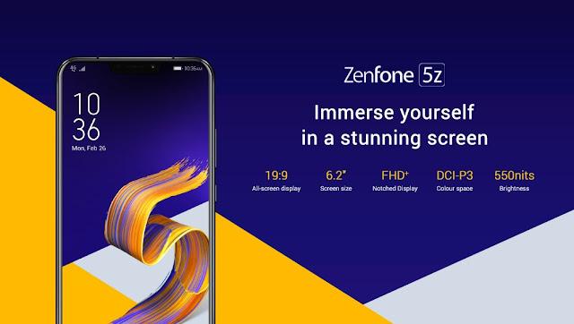 asus zenfone 5z design specifications
