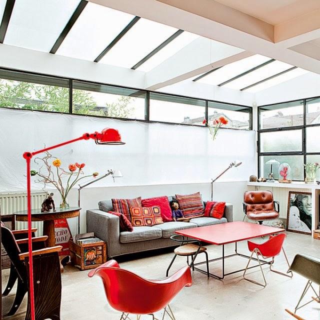 Interior Pequeno Loft Mix Vintage Y A Todo Color Decoracion - Decoracion-de-loft-pequeos