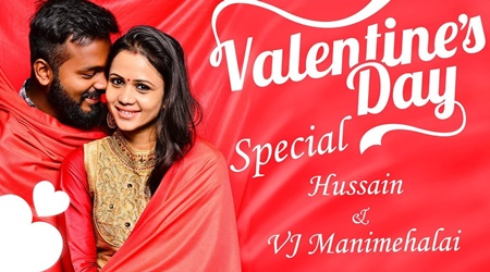 Couple Share Their Love Story! VJ Manimegalai & Hussain Fun Interview And Live Dubsmash, Dance!