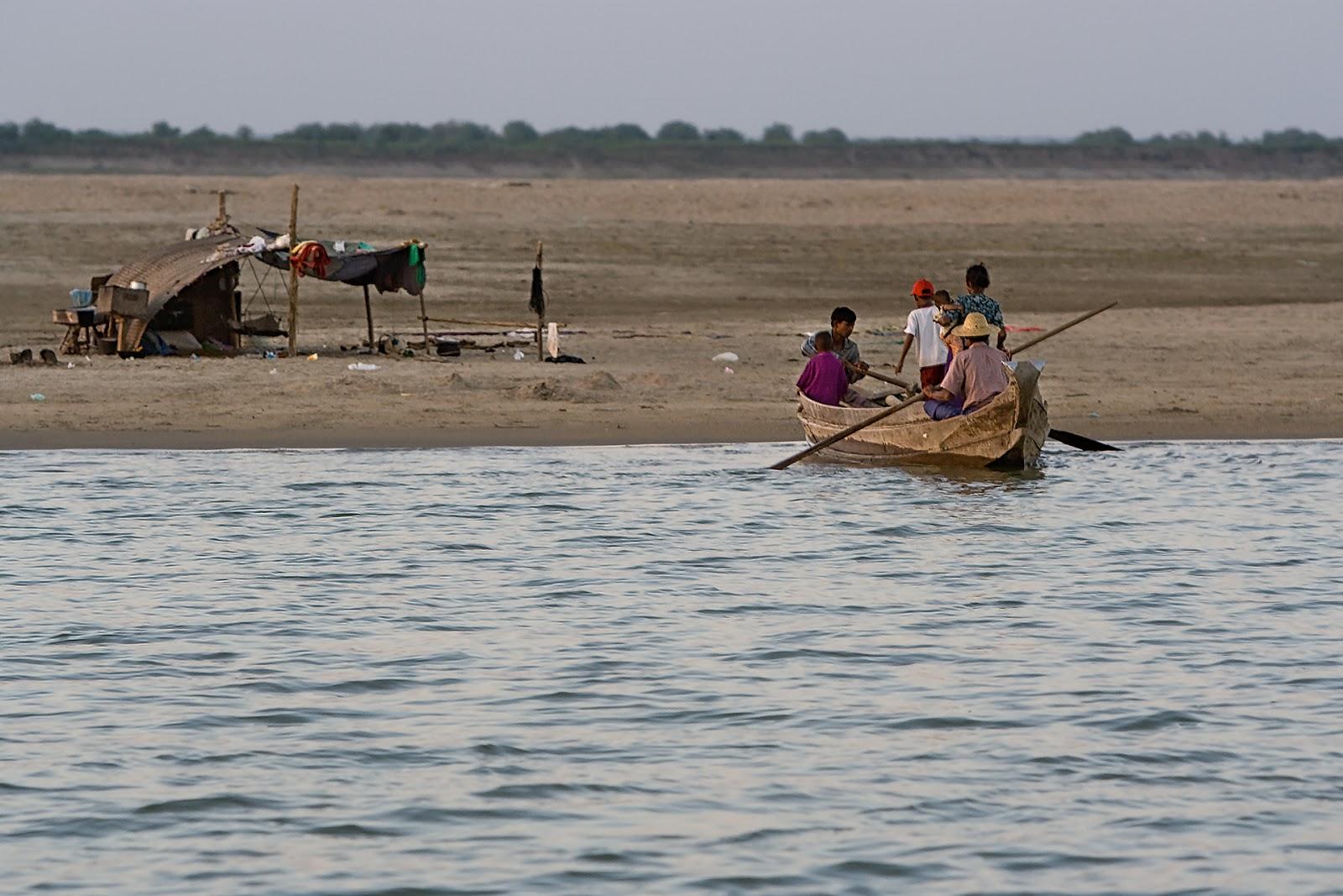 rzeka,Irawada,bagan,birma
