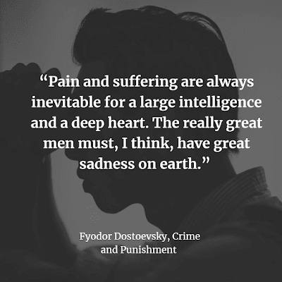 Fyodor Dostoyevsky Inspirational quote Crime and Punishment