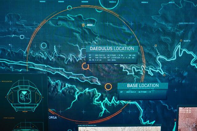 Hình ảnh vệ tinh cho thấy địa điểm dự kiến hạ cánh của tàu Daedalus trên bề mặt Sao Hỏa và địa điểm thực tế mà phi hành đoàn thực hiện hạ cánh là khác nhau.