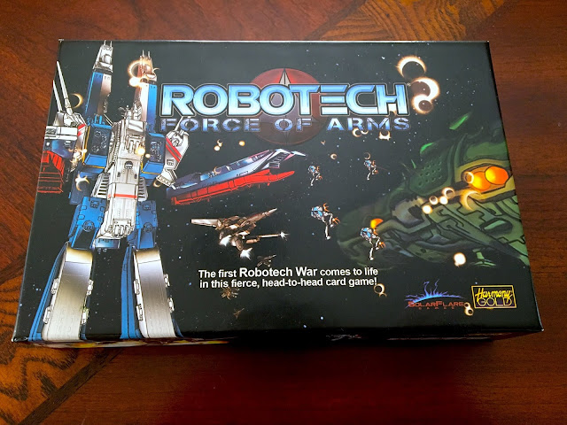 Robotech: Force of Arms board game box art SolarFlare Games Everything Board Games