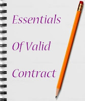 Contract And Itu0027s Essentials. Essentials Of Valid Contract