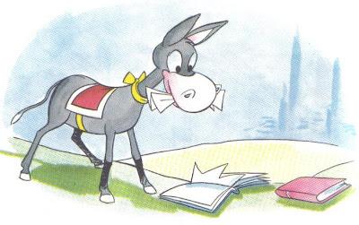 el burro y los libros fabula
