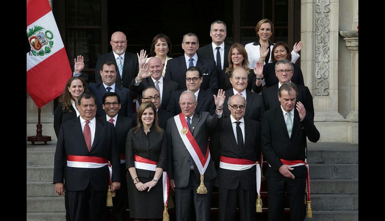 A enero del 2018 quienes conforman el gabinete de for Ministros del peru