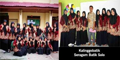 Seragam batik solo Kalinggo batik printing STIT Muhammadiyah Berau jurusan pendidikan bahasa inggris