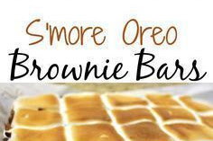 S'MOREOS – S'MORES OREO BROWNIE BAR