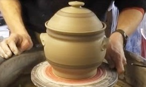 Making a Tall Lidded Pottery Casserole on the Wheel