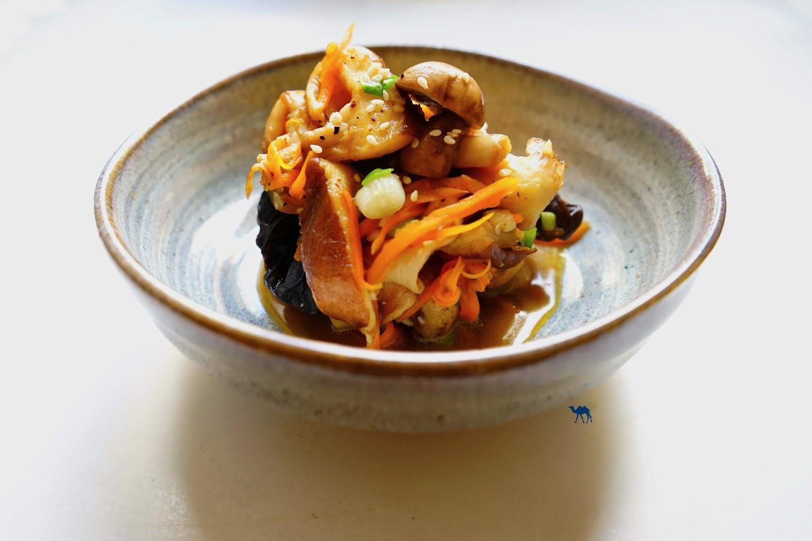 Le Chameau Bleu - Poêlée de champignon sauce teriyaki
