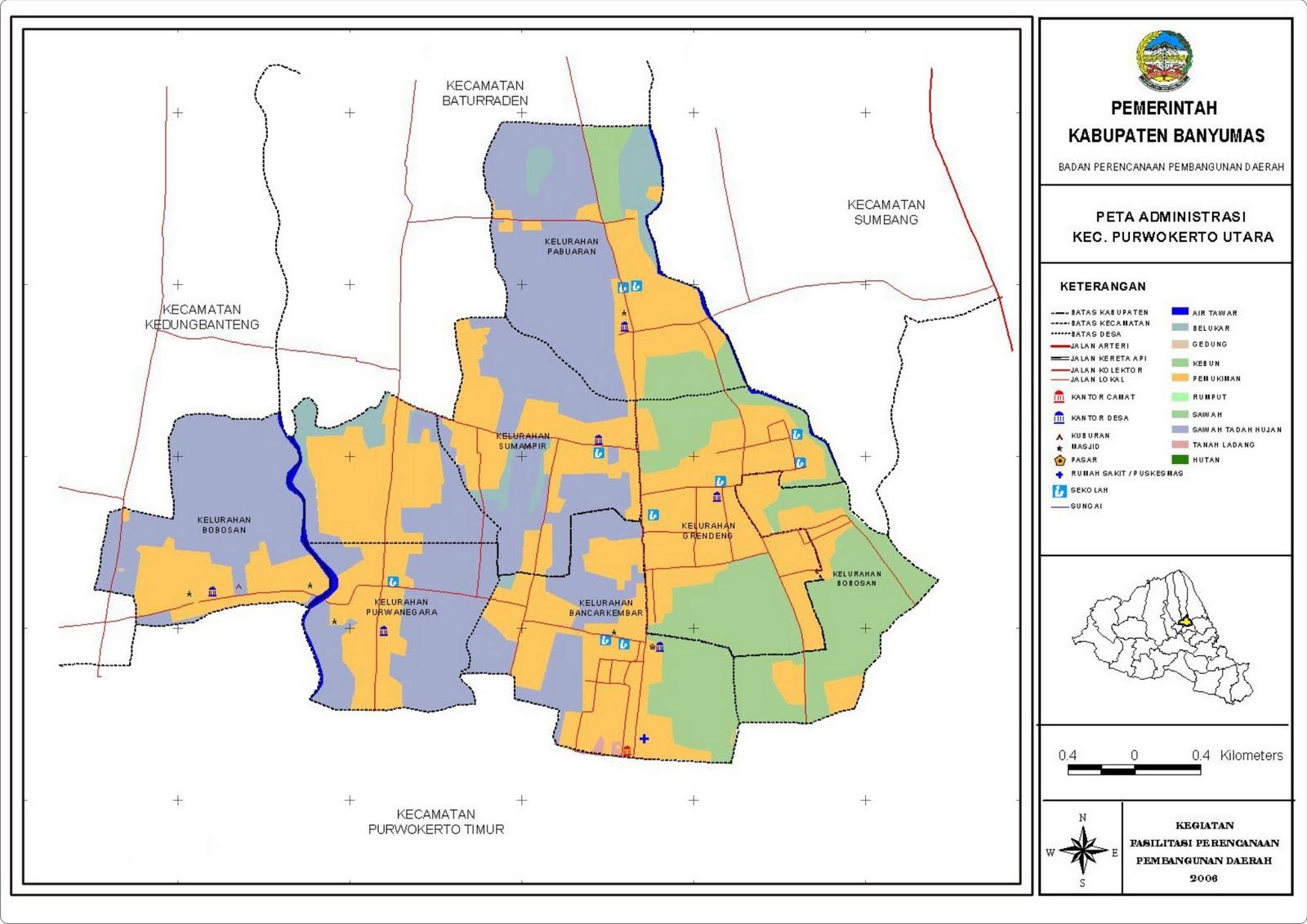 Patikraja New's: Peta Kecamatan Purwokerto Utara