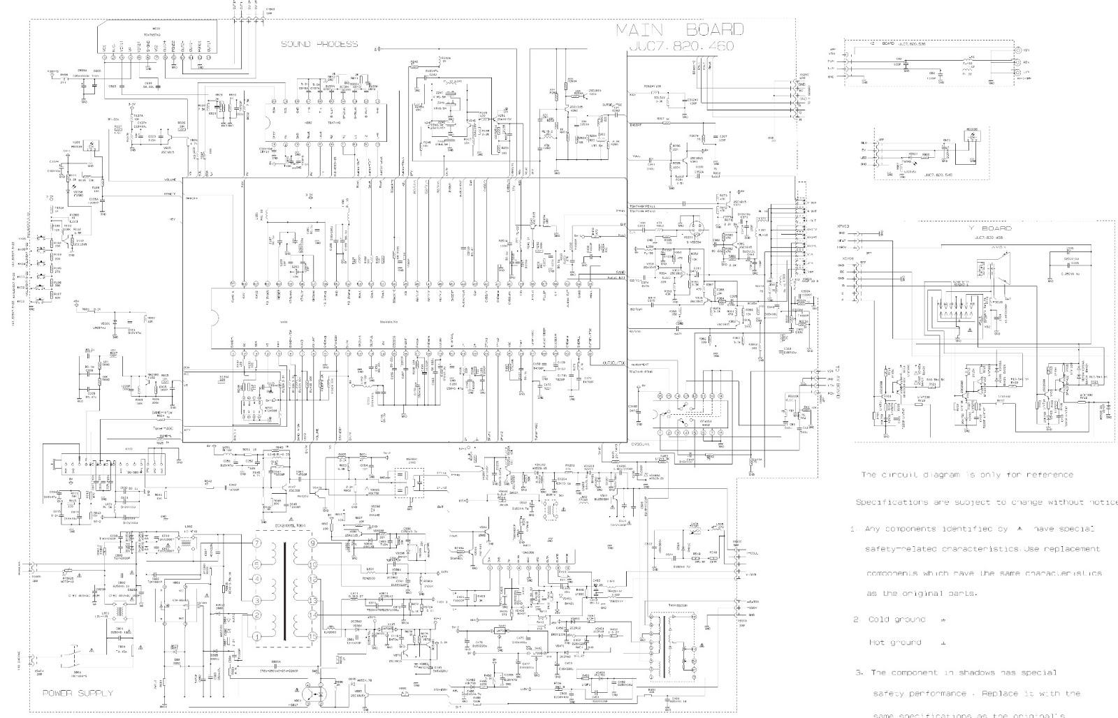 VIDEOCON 21NF55  21PF93  SCHEMATIC DIAGRAM (Circuit