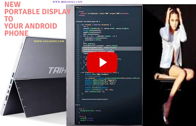 Now you can connect New Portable Display to your Android phone.