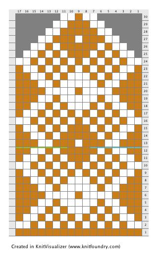 grille de tricot de mitaines pour homme